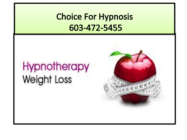 To control weight with hypnotherapy
