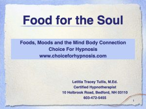 foods you eat effect your mood and visa versa
